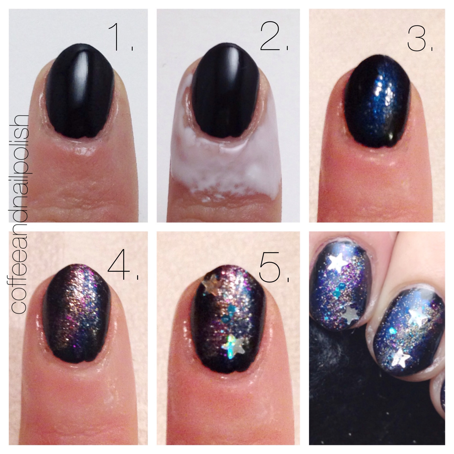 Galaxy Nails – Coffee & Nail Polish