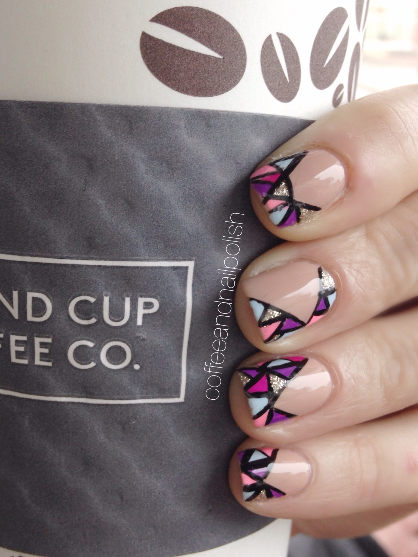 Peek-a-boo Stained Glass Nails. – Coffee & Nail Polish