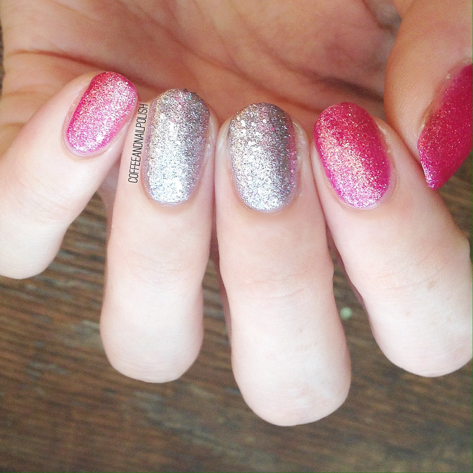 First Up We Have The Glitters In Collection One Pink And More Of A Rose Gold Both These Polishes Went On Easily Two Coats