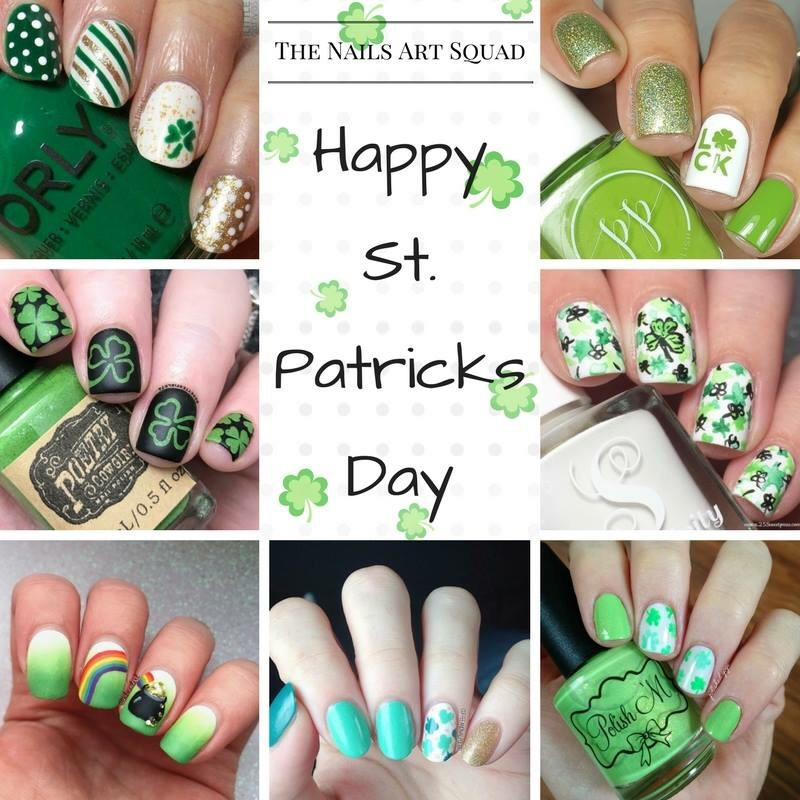 St Patrick\'s Day nails with #thenailartsquad – Coffee & Nail Polish