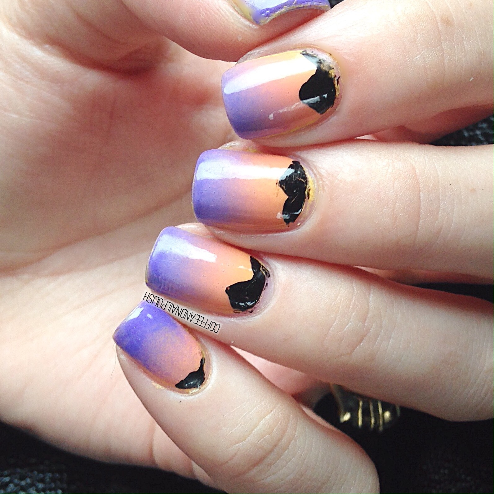 Desert Sunset inspired nails – Coffee & Nail Polish