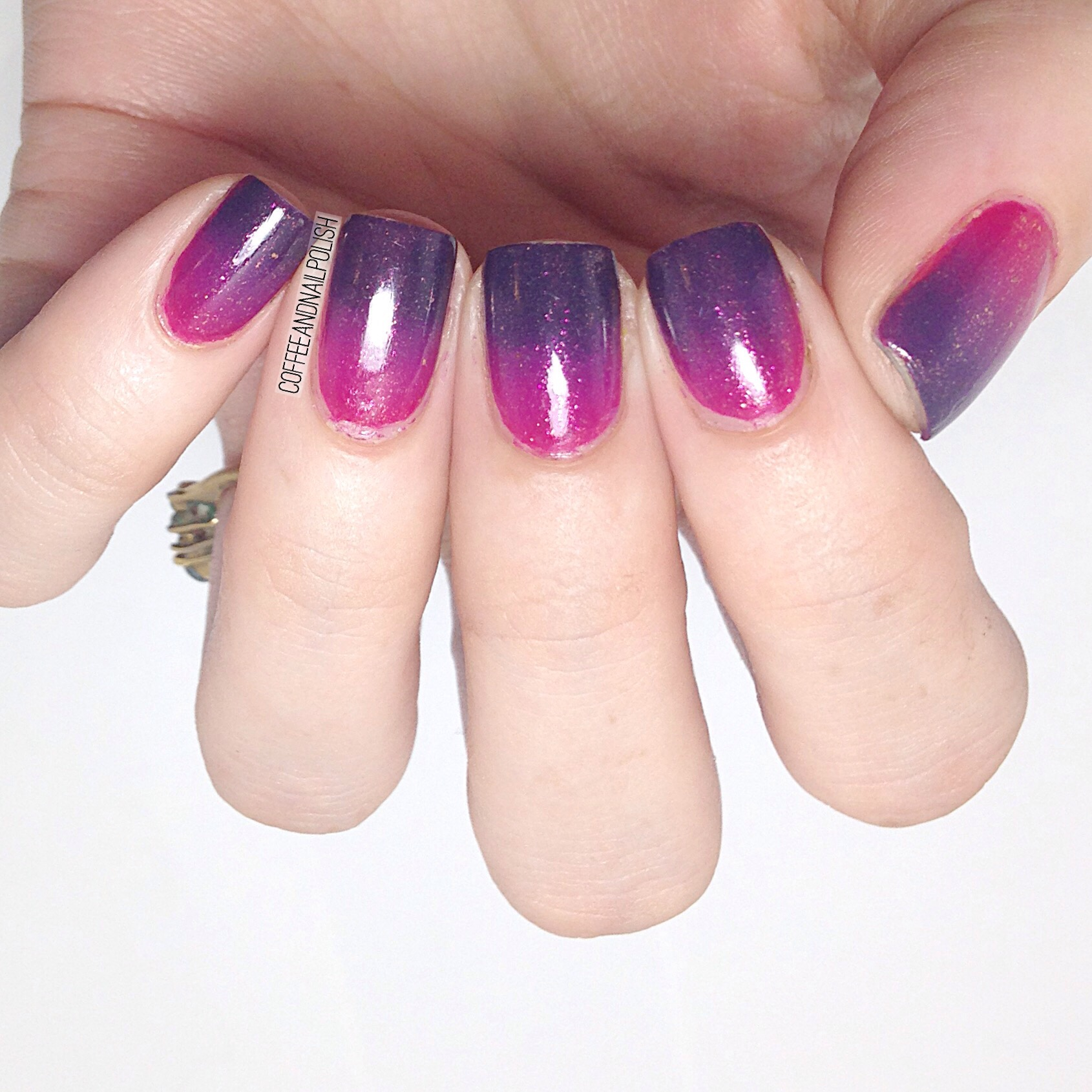 Pink to Navy Blue Gradient Nails – Coffee & Nail Polish