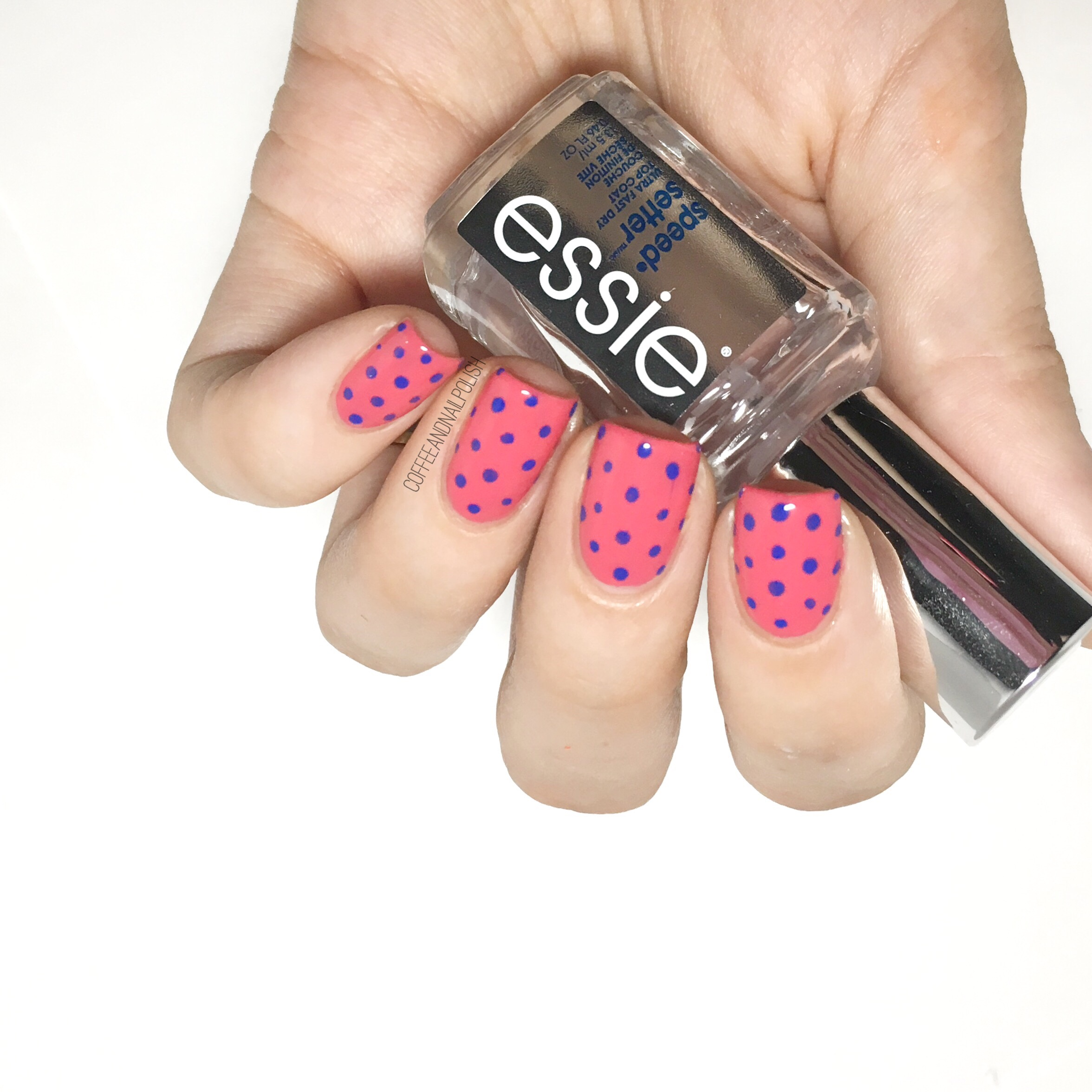 Polka Dots! Featuring Essie\'s New Speed Setter Top Coat – Coffee ...