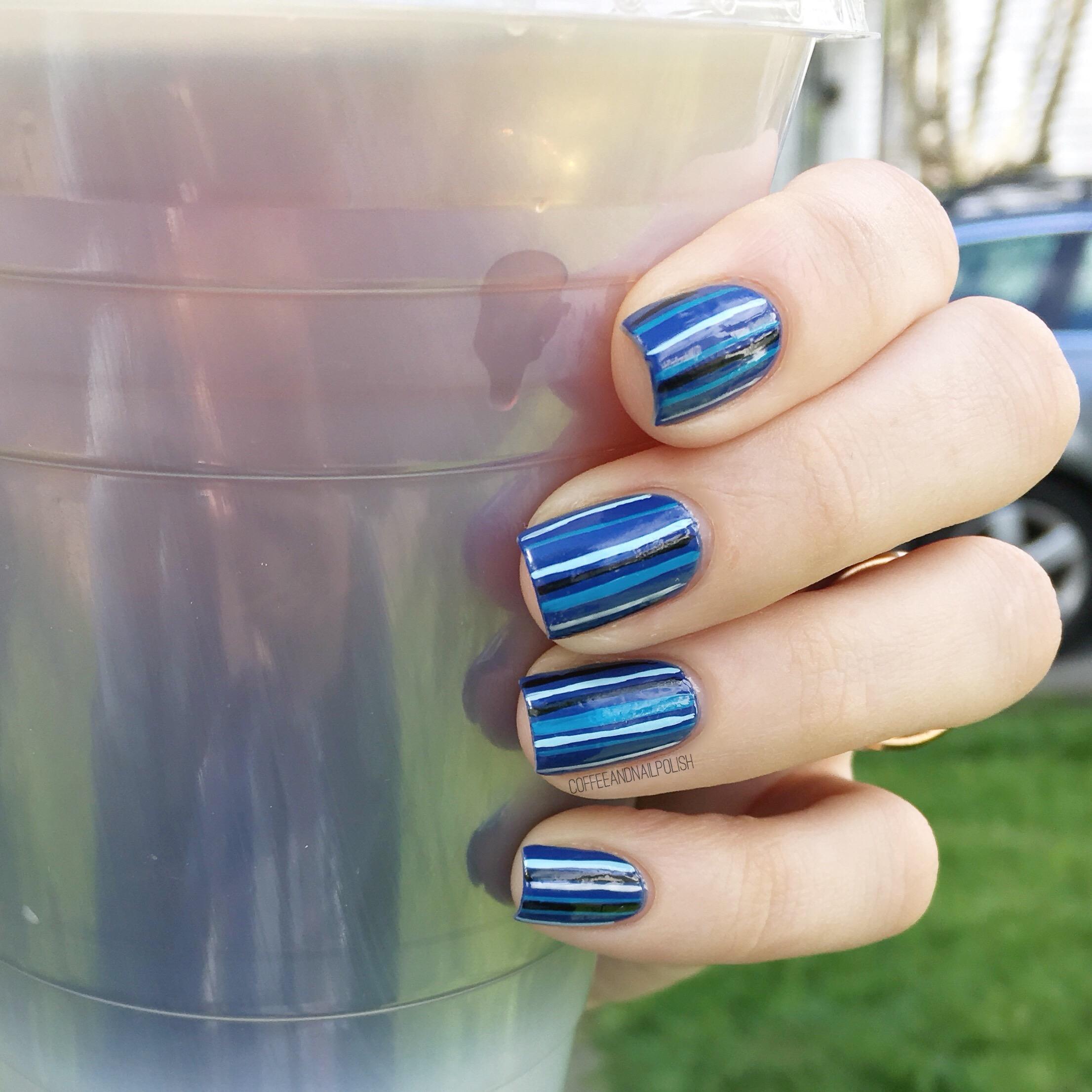 Feeling Blue… Stripes 💙 – Coffee & Nail Polish