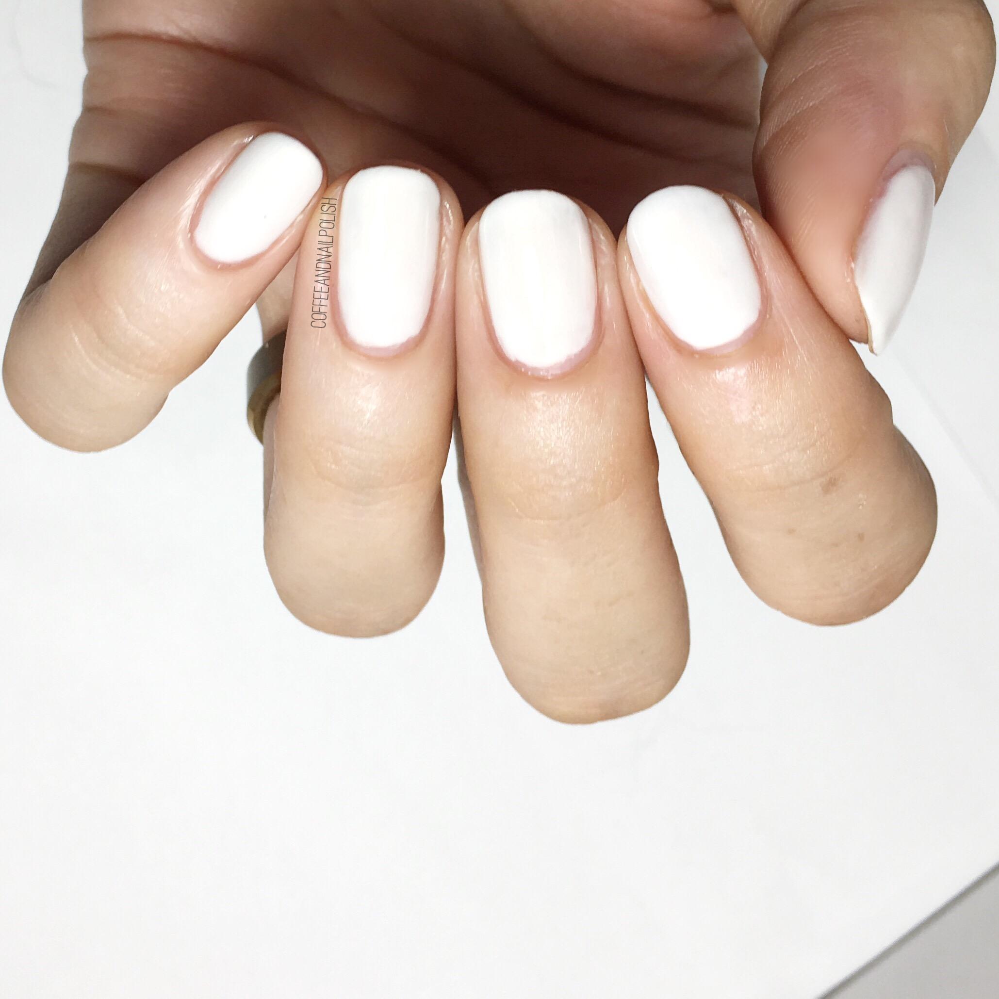 Essie White Nail Polish Swatches | Splendid Wedding Company