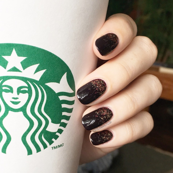 Halloween Glitter Gradient – Coffee & Nail Polish