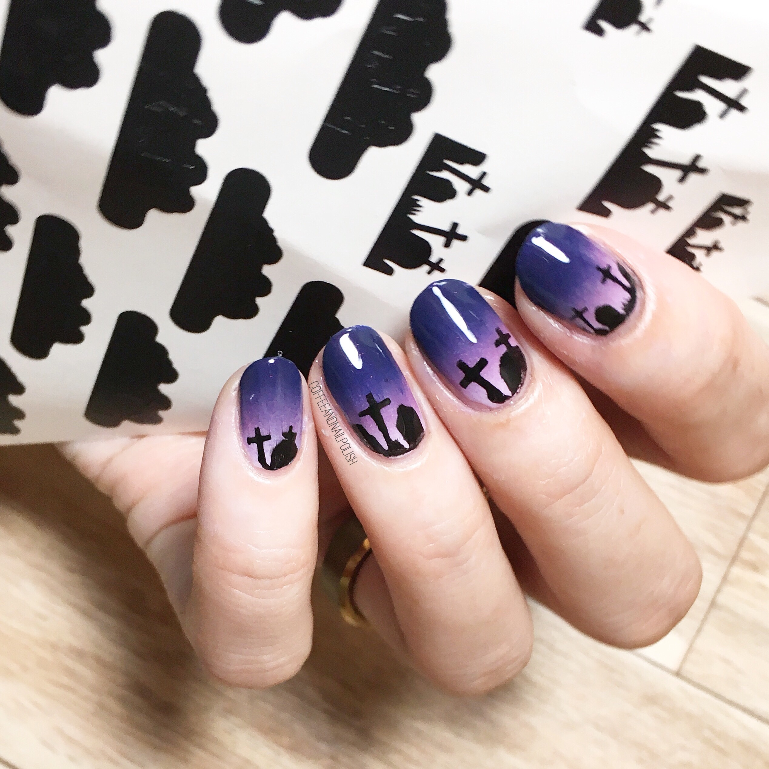 Graveyard Nail Stencils with NailPolishCanada (& how to score your ...