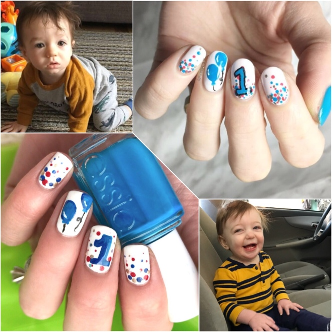 Bestie Twin Baby Boy Birthday Nails With Hjsnails Coffee Nail